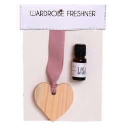 Deluxe wooden heart 11ml fragrance oil wardrobe freshener