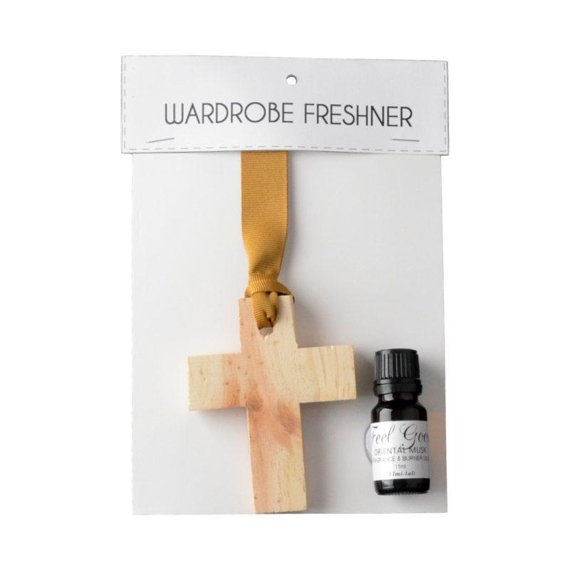 Elmi-Jali wooden cross wardrobe freshener fragrance oil 11ml