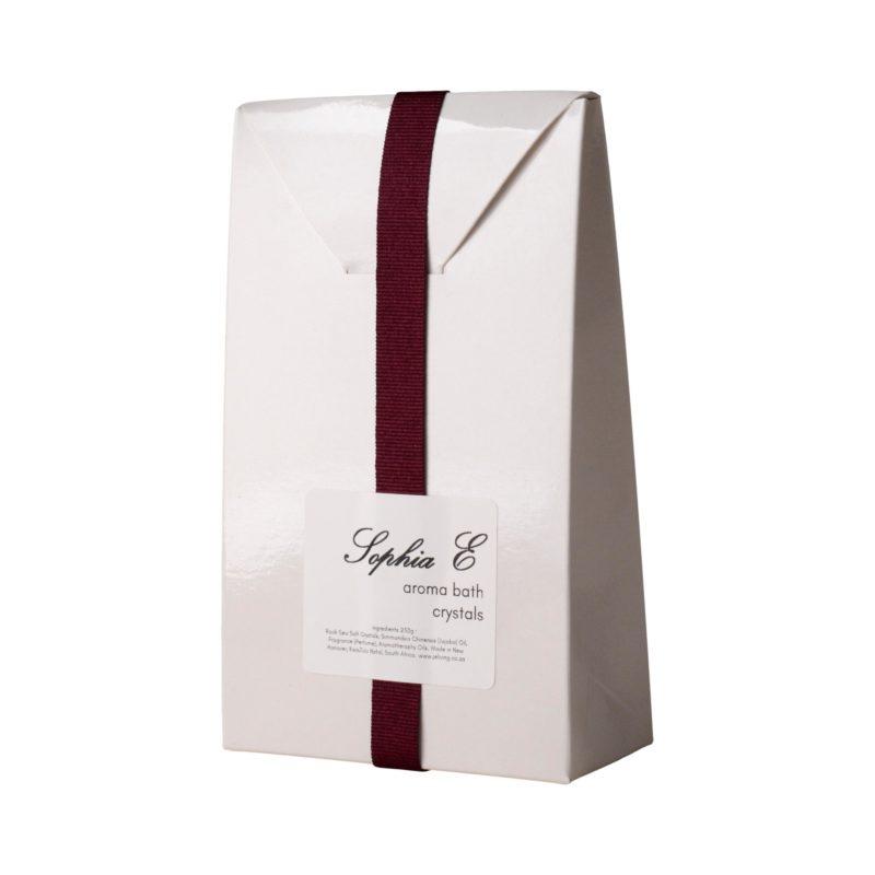 Sophia E aroma rock crystals in white bag 250g