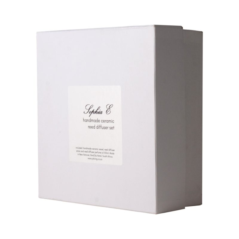 -Sophia E handmade ceramic reed diffuser set in gift box 100ml 1