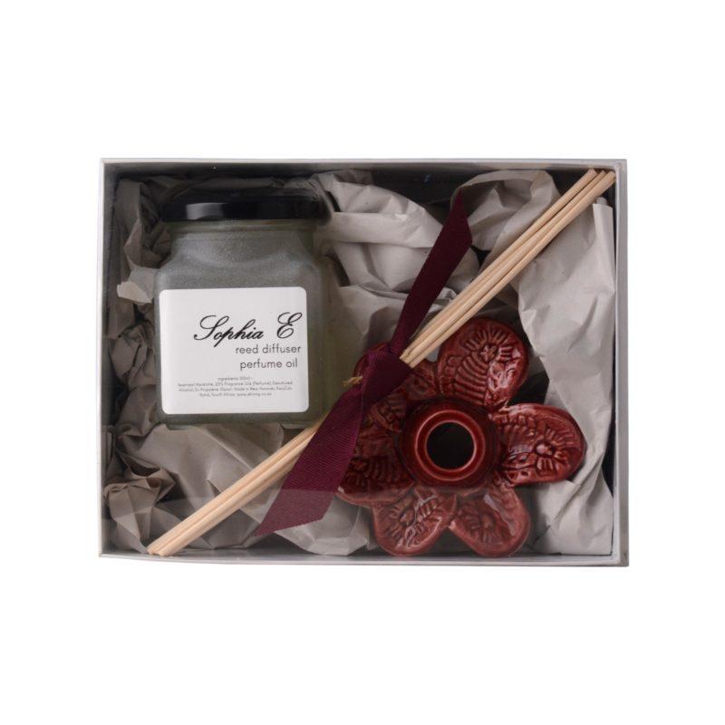 -Sophia E reed diffuser ceramic flower 100ml in gift box 1