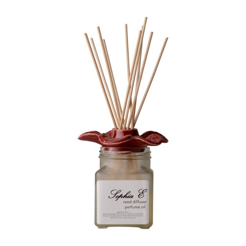 -Sophia E reed diffuser ceramic flower 100ml in gift box