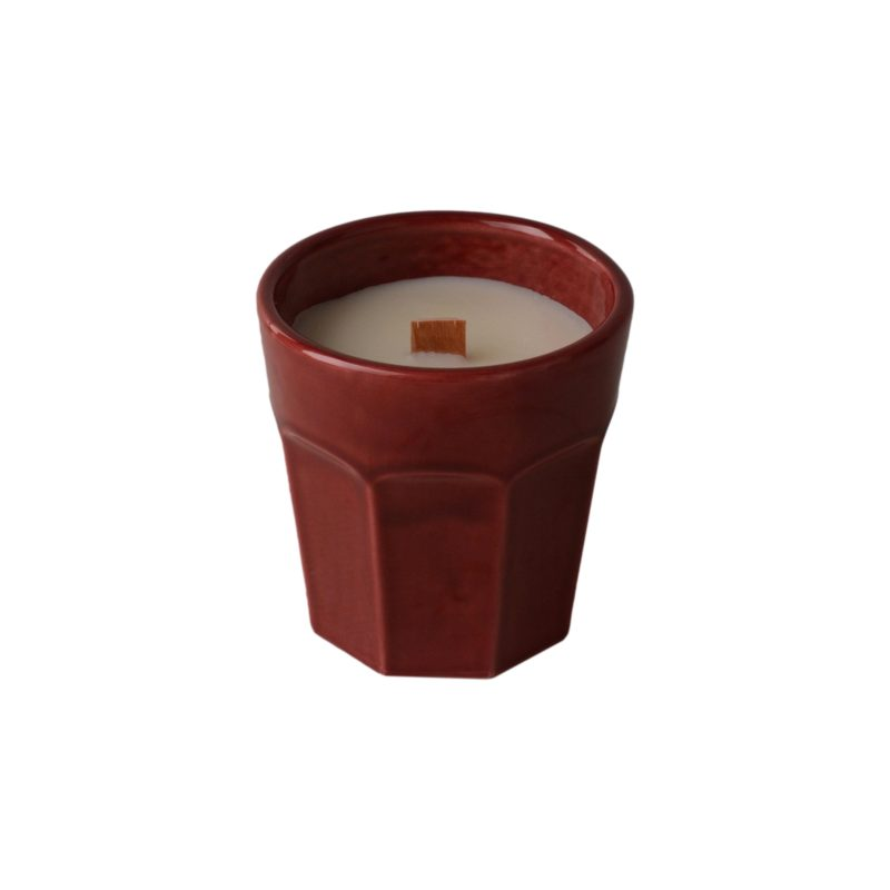 -Sophia E wood wick soy candle in gift box