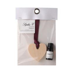 Sophia E wooden heart 11ml fragrance oil wardrobe freshener
