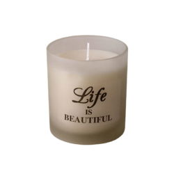 Aroma candle in frosted glass in gift box - ENGLISH QUOTE