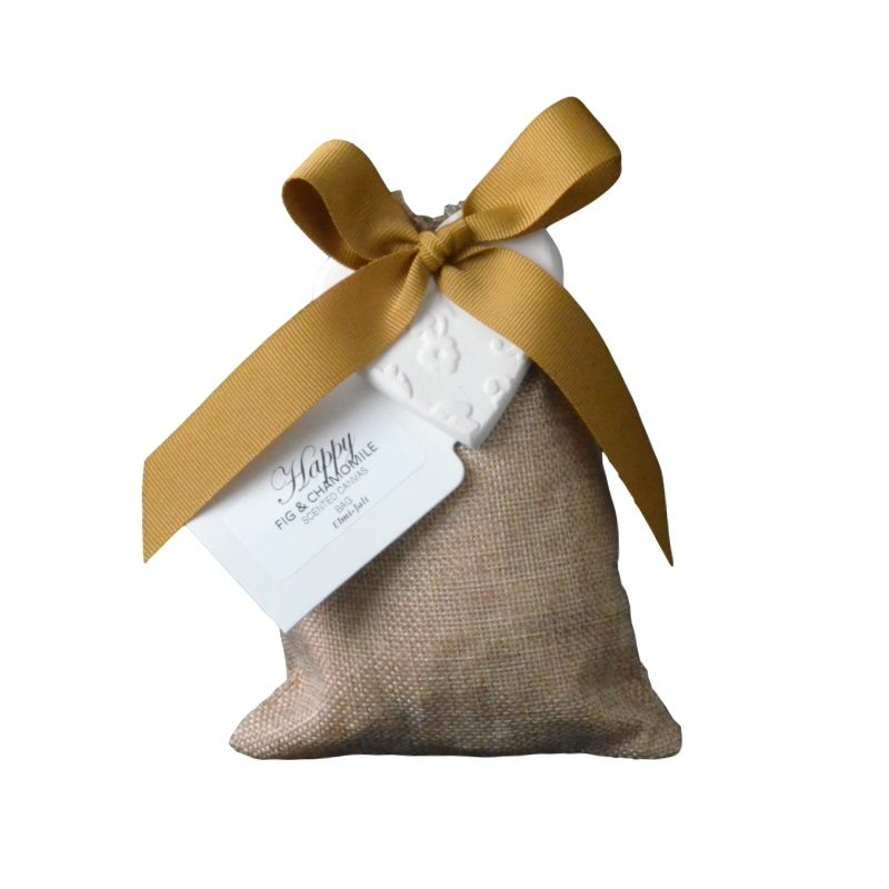 Elmi-Jali cotton scented gift bag with ceramic heart