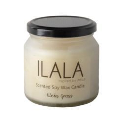 Ilala jojoba shea butter soy wax candle in frosted jar 250ml