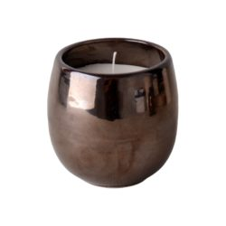 Classy Home Gold Ceramic Candle in Black Sustainable Bag