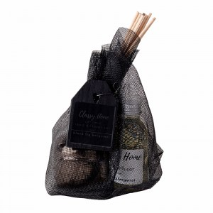 Classy Home Ceramic Reed Diffuser 100ml in sustainable recycled black mesh bag
