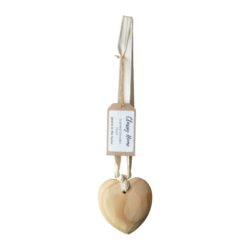 CLASSY HOME scented wood heart on ribbon 10cm