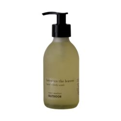 between the leaves hand and body wash glass bottle 200ml - OUTDOOR