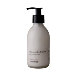between the leaves hand and body lotion glass bottle 200ml - OUTDOOR