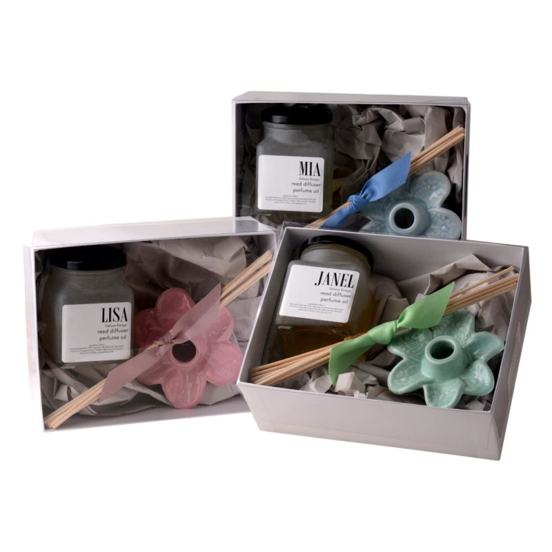 Deluxe-reed-diffuser-ceramic-flower-100ml-in-gift-box-