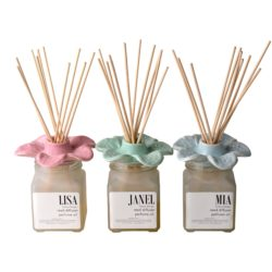 Deluxe-reed-diffuser-ceramic-flower-100ml-in-gift-box